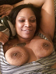 Ghetto black girl nude self