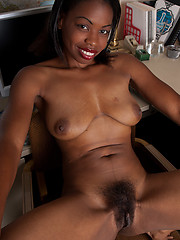 Gorgeous naked black ladies posing